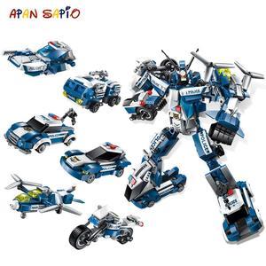 Image 1 - Transformation 6 in 1 Serie Figur Ziegel Stadt Roboter Starwars creator Bausteine Spielzeug für Kinder