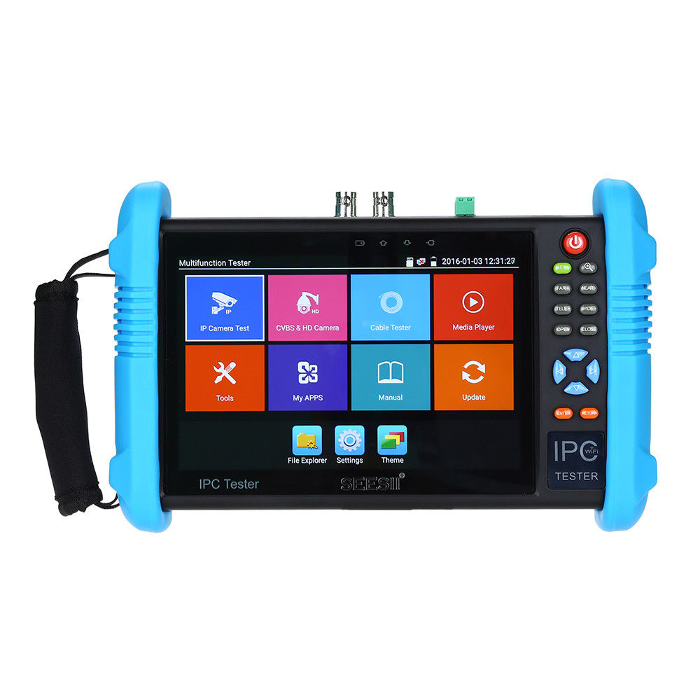 SEESII 9800PLUS 7 Inch CCTV Tester 4K 1080P IPC Camera Monitor CVBS Analog Test Touch Screen with POE HDMI ONVIF H.265 WIFI 8GB