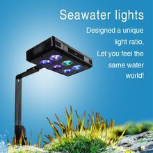 30 w 52 w 75 w led 수족관 빛 산호초에 대 한 dimmable 전체 스펙트럼 성장 물고기 탱크 led 빛 해양 바다 탱크 산호 sps lps