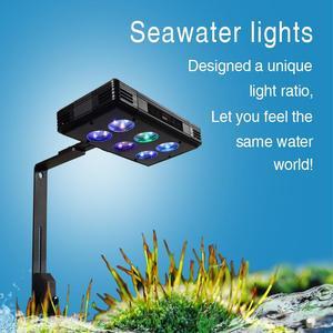 Image 1 - 30W 52W 75W oświetlenie LED do akwarium możliwość przyciemniania pełne spektrum dla rafy koralowej rosną akwarium LED light marine sea Tank Coral SPS LPS