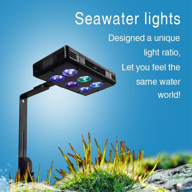 30W 52W 75W oświetlenie LED do akwarium możliwość przyciemniania pełne spektrum dla rafy koralowej rosną akwarium LED light marine sea Tank Coral SPS LPS