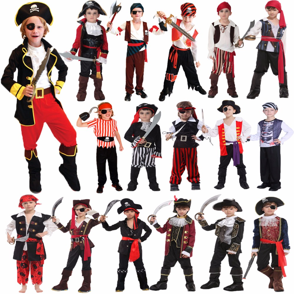 Umorden Halloween Kostumer til Boy Boys Kids Børn Pirate Costume Fantasia Infantil Cosplay Clothing