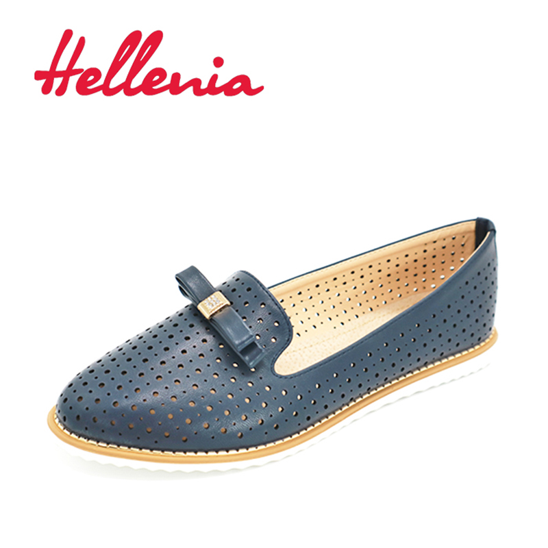 Hellenia Women Shoes Flat New Fashion Shoe Black Women Rounded Toe Autumn Sping  women's shoelaces shoelaces PU leather free shipping 2017 new arival hollowed out peep toe canvas shoes fashion flat bottom denim shoe ginger green black white