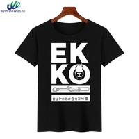 2017 Fashion T shirt Men Women Summer Tops Casual Kawaii Cotton O neck T Shirt LOL Ekko Cosplay Tee Tshirt