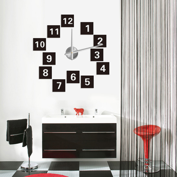 2014 Best Gifts Fashion Big Size 3D Wall Clocks Creative DIY Acrylic Metal Sticker Mirror Design Watches - LY gifts store