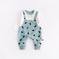 Peninsula Baby New Born Boys Girls Climbing Clothing Autumn Winter Warm Thick Romper Carton Hemisphere Long