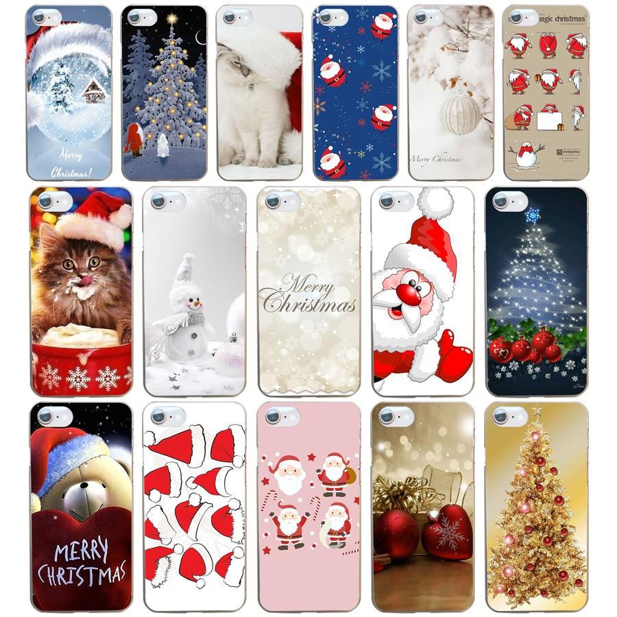 Soft TPU Christmas Phone Case For iPhone 7 6 6S 7 Plus 5s SE Santa ...