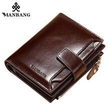 ManBang 2019 Hot Sale Wallets Man Short Genuine Leather Card