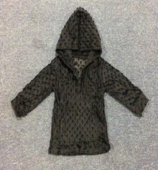 Autumn and winter long sleeve children's black hoodie big pocket design men and women children's sleeve sweater hot sale shirt
