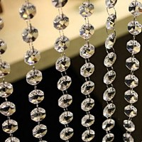 33 FT Crystal Clear Acrylic Bead Garland Chandelier Hanging Party Wedding Supplie Decoration Garland Strand