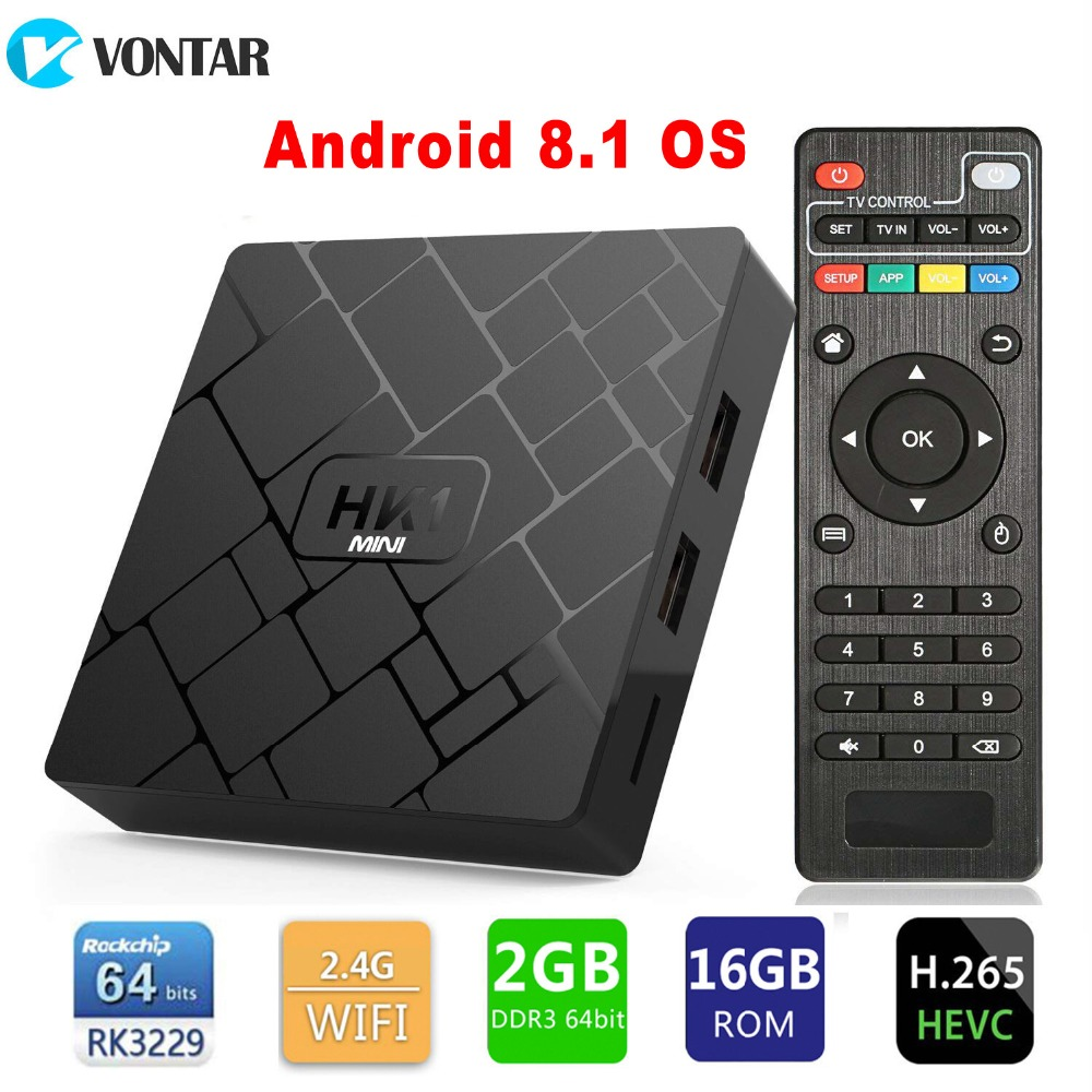 Android 8.1 Box TV RAM 2GB 16GB ROM Rockchip RK3229 Quad Core WIFI H.265 4K Google Play Netflix Set Top Box Media Player ourspop mk823 rii x1 air mouse quad core android 4 2 google tv player w 2gb ram 8gb rom xbmc