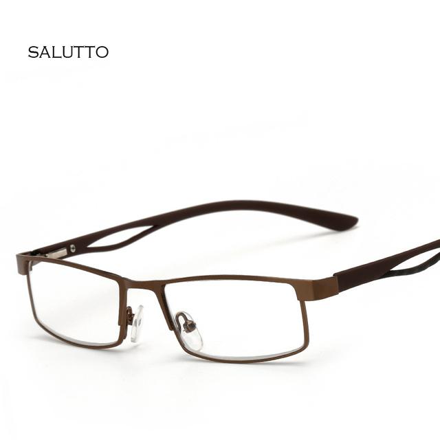 Marco Cuadrado de Metal Hipermetropía Anteojos Recetados Gafas de Lectura Hombres Mujeres Negocio Ahora La Vista Gafas oculo de grau