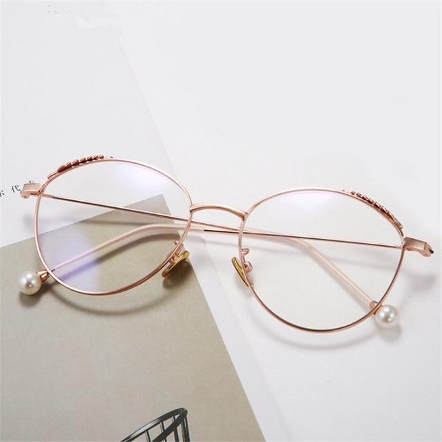 aefdd87ab2a6 Fashionable round glasses Metal circular alloy glasses women Myopia frame  prescription Beautiful glasses frame
