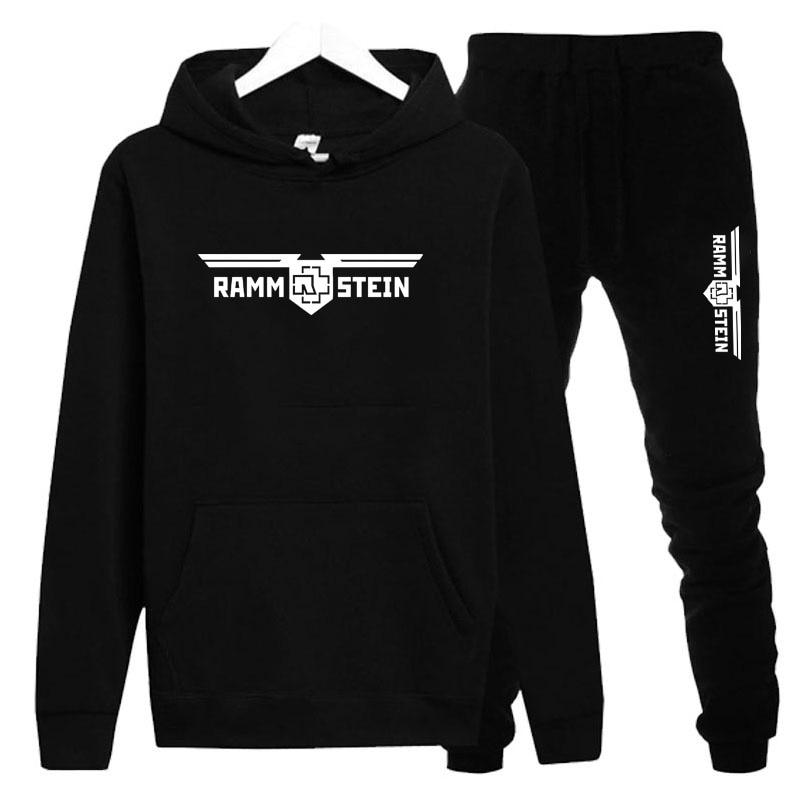 2019 Rammstein sporting suit men/Women  warm hooded tracksuit track men and women sweat suits set Plu Size sweatsuit Unisex sets