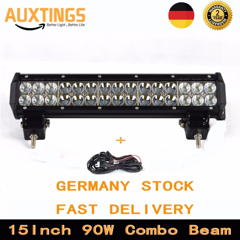 Germany Stock 15 Inch 90w Led Light Bar 4x4 Combo Beam Led
