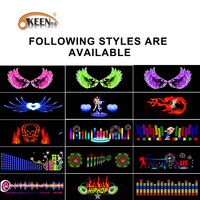 OKEEN Music Car Sticker Music Equalizer To The Rear Window With Music Rgb Led Controller Cigarette