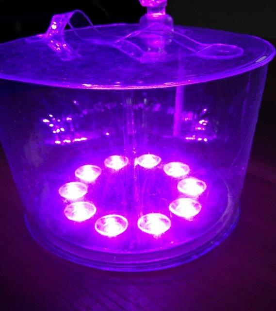 10LED Solaire Alimenté Pliable Gonflable Protable Lumière Lampe Pour ...