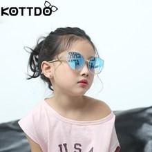 KOTTDO vintage cat eye sun glasses luxury brand kids sunglasses black