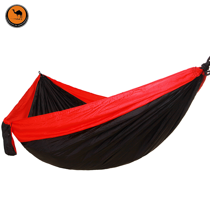 High Strength Portable Camping Hammock Portable Parachute Nylon Fabric Travel Ultralight Camping Double Wide Outdoor 260*140cm