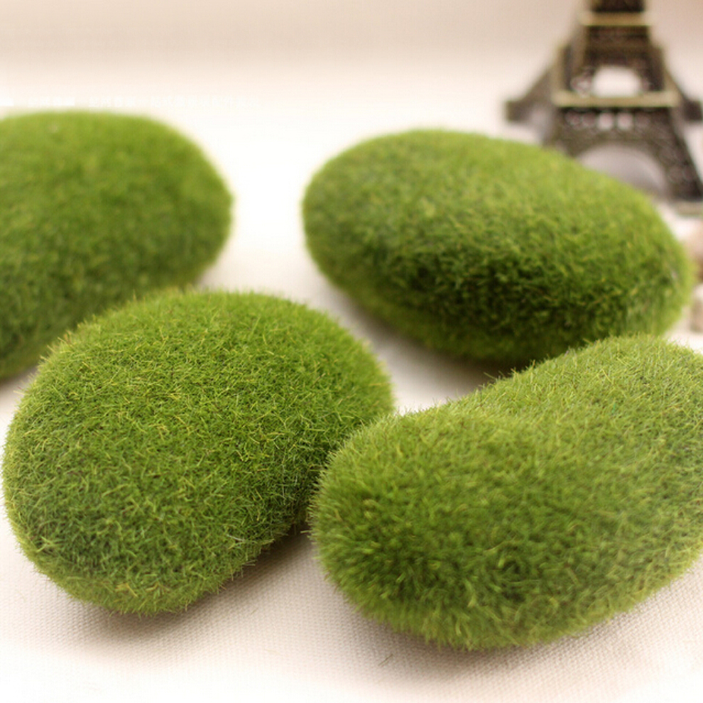 Online Shop 10cm X 8cm Simulation Moss Irregular Stones Grass