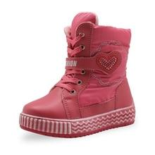 bc198fa43751c 2019 bebé invierno botas para la nieve de las niñas impermeable de peluche  de lana zapatos de senderismo zapatos de los niños el.