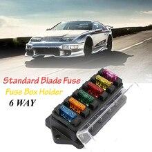 Car 6 Way Multi-speed Fuse Box Standard ATO Automotive Blade Block Holder Circuit Ato Insert