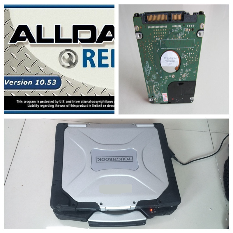 2016 v10.53 All data Alldata and Mitchell auto repair software plus 1000gb harddisk in military toughbook 4g cf-30 for panasonic