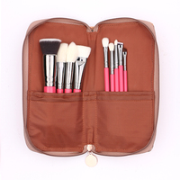 9pcs Goat Hair Cosmetic Makeup Brush For Powder Foundation Eyeshadow Blush Contour Brush Set Eye Shadow