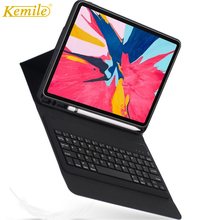 Kemile Bluetooth Keyboard Case W Pencil holder for iPad Pro 11 2018,Magnetic Flip Cover For iPad Pro 11 inch Bluetooth Keyboard portable bluetooth v3 0 59 key keyboard w cover for ipad mini dark blue black