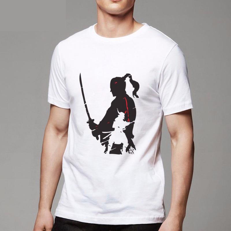 Samurai Warrior t shirt Newest 2017 mens fashion short sleeve arajuku funny tee shirts Hipster O-neck cool tops