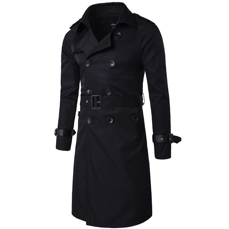 Trenchcoat Mens Design Long British Style Trench Coat Beige double breasted Spring Jackets Coat Windbreaker Overcoat Casacos 3xl