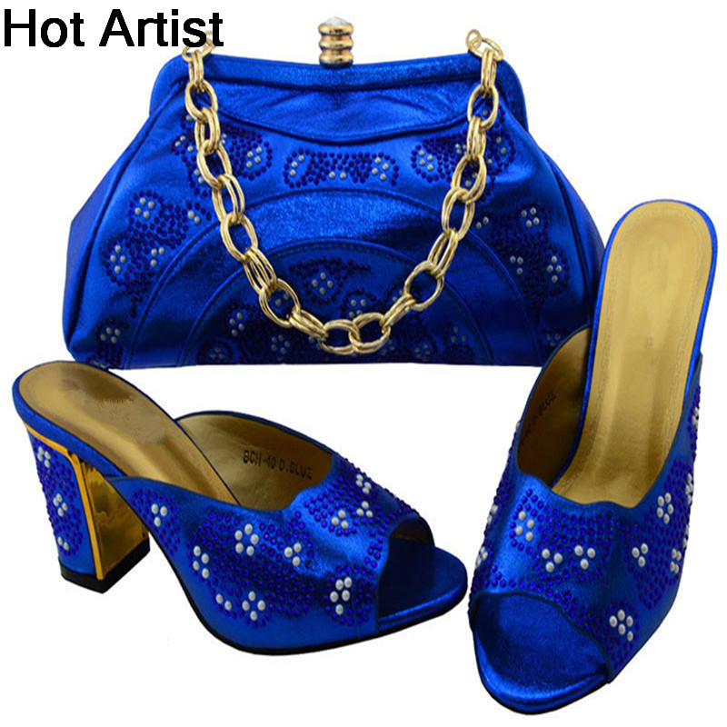 Hot Artist Hot Selling Woman Shoes With Matching Bags Sets For Party Fashion Italian Shoes And Bags Set For Wedding BCH-401 new arrival fashion italian shoes with matching bags set for wedding and party african shoes and bag sets with stones bch 16