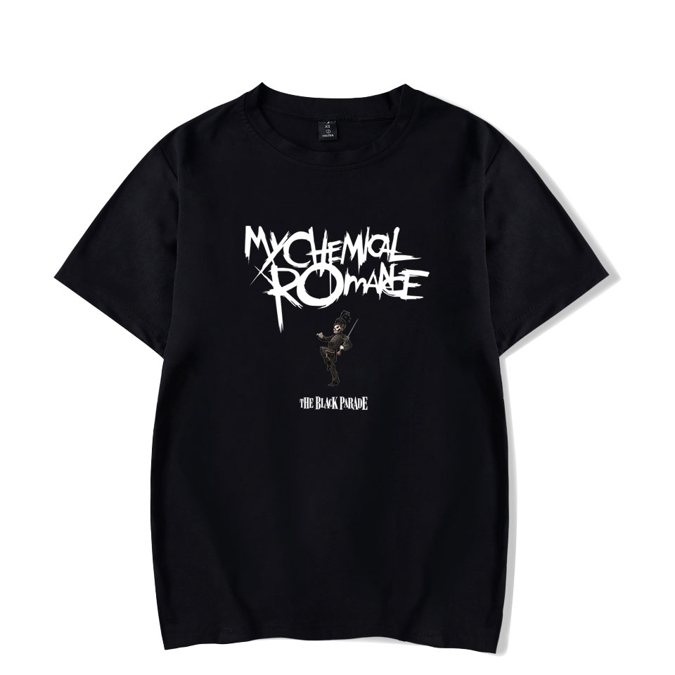 My Chemical Romance   T  -  shirts   Cool And Fashion Women/men Basic Round O Neck Short Sleeve   T     Shirts   Hipster Funny Big Size 4XL
