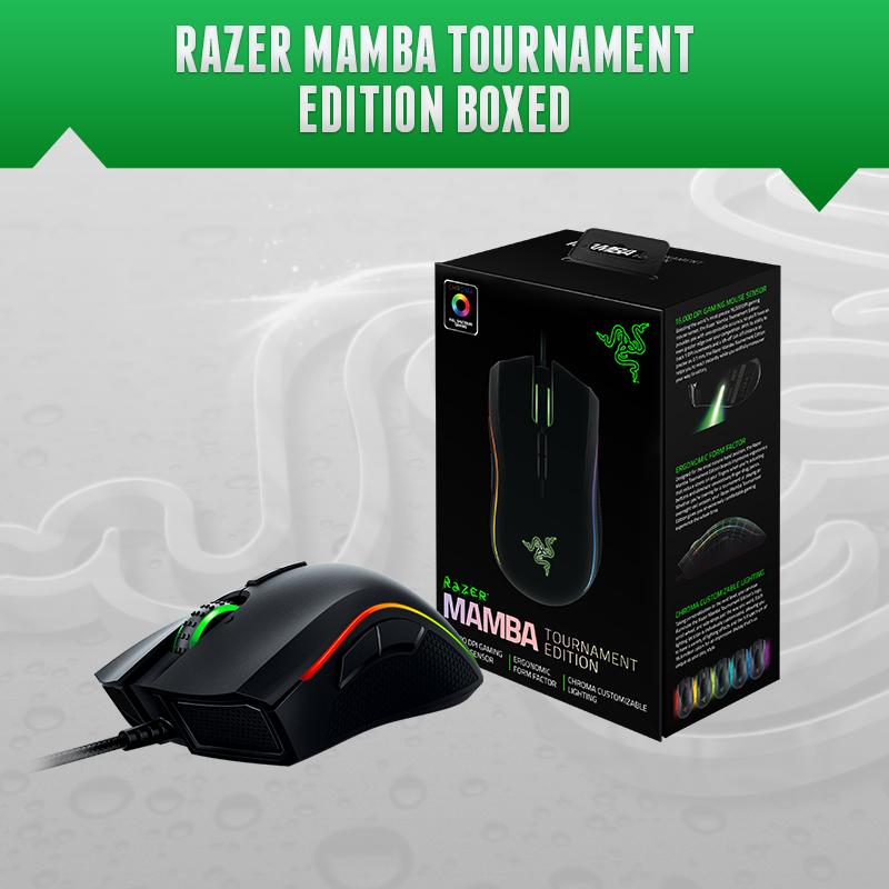 Razer Mamba Elite Edition, Mamba Tournament.Gaming Mouse, 16000 DPI, Chorma Light, Brand new in Retail BOX