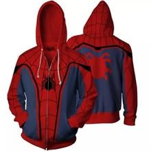 3color Spiderman Sweatshirts cosplay costume Hoodies Anime 3D hoodies Men Women Street Wear Casual Pockets