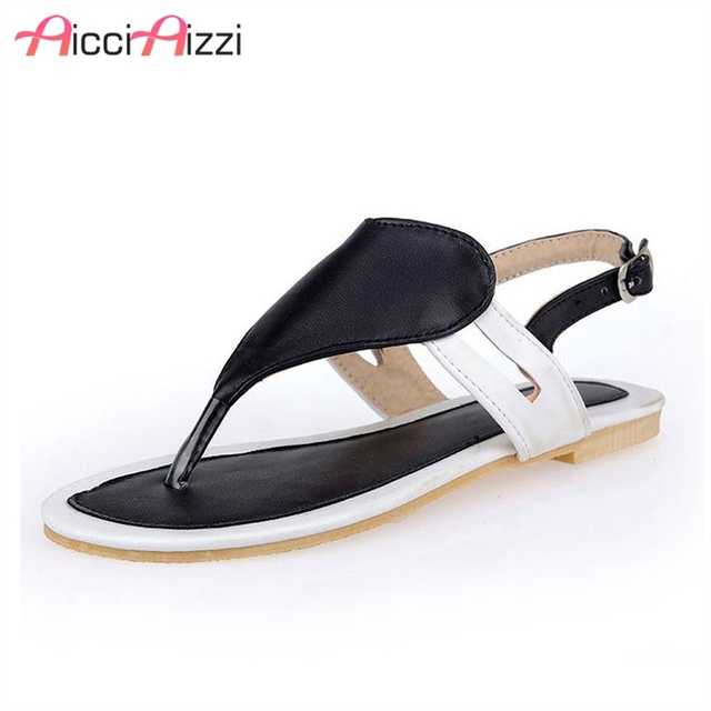b204e3a1a070 Size 32-47 Shoes Woman Famous Brand Flip Flops Ladies Clip Toe Gladiator  Sandals Women Branded Slippers Sandalias Shoes PA00360
