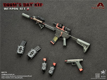 1/6 Guns combination Easy&Simple 06017 Doom Day Kit II  Rifle Pistol Gun old version Weapon Model Collections