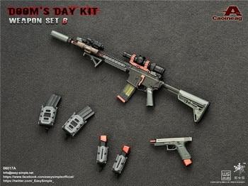 1/6 pistolas combinación fácil y Simple 06017 Doom día Kit II Rifle pistola versión antigua arma modelo arma colecciones