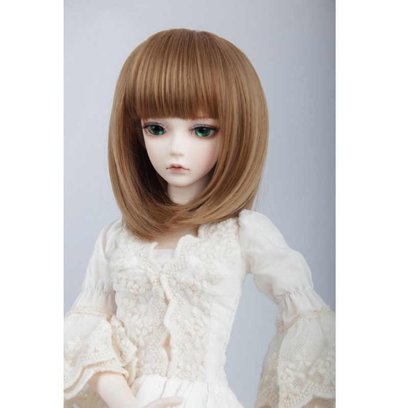 Ascosplay Аксессуары куклы волосы парик BJD короткие прямые волосы БОБО, цвет 1/3 1/4 черный коричневый светлый цвет