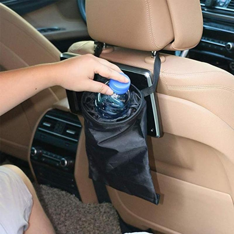 Hanging Car Seat Back Litter Auto Garbage Can Trash Storage Bag Rubbish Bin Sundries Holder Organizer Pocket Bags Trash Can(China)