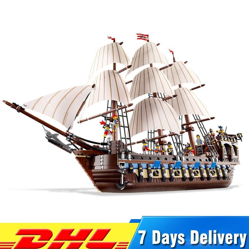 1717pcs Pirate Ship Imperial Warships Modell Byggstenar Briks Educational Leksaker för Barn Gåvor Kompatibel Legoingly 10210