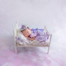 Bebé recién nacido Mini cama Vintage bebé fotografía props fotografía de recién nacido accesorios rústico bebé foto props