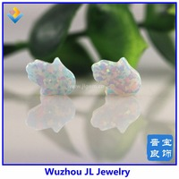 1Pc 8x10mm Opal Hamsa Stone For Opal Hamsa Necklace And Bracelet Making White Green Blue Red