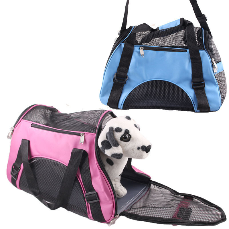 Portable Pet Backpack Messenger Carrier Bags Cat Dog Carrier Outgoing Travel Teddy Packets Breathable Small Pet Handbag