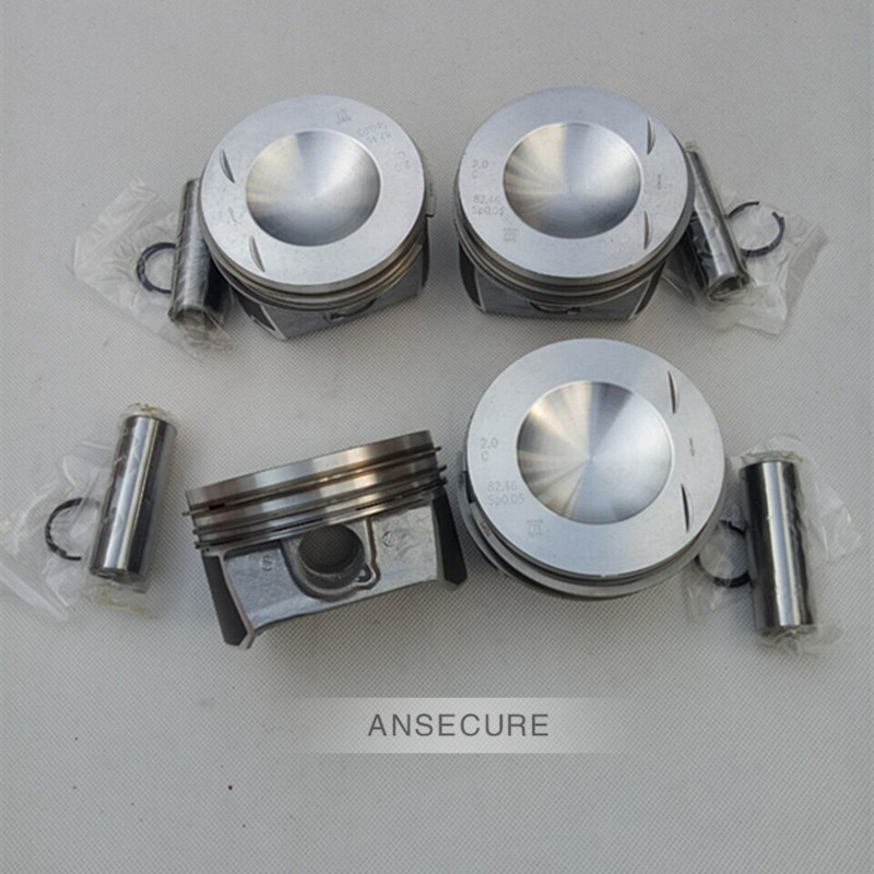 4 pieces Piston and Ring Assembly Pin Diameter 20mm 82 5mm STD For VW GTI GLI