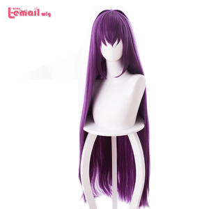 Image 3 - L email wig Game Fate Grand Order Lancer Scathach Cosplay Wigs Long Straight Heat Resistant Synthetic Hair Perucas Cosplay Wig
