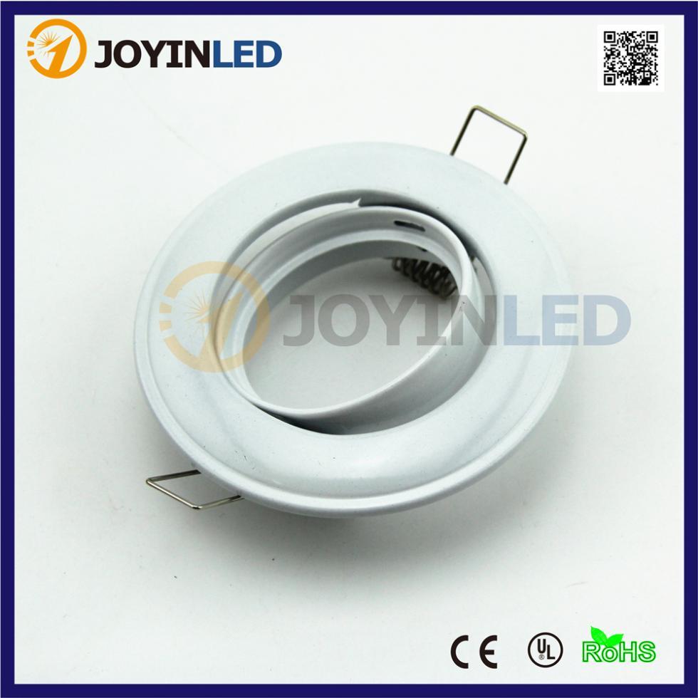 10 set White Round led lamp Frame fixture Fittings including 4W GU10/MR16 DC12V Spot Down light