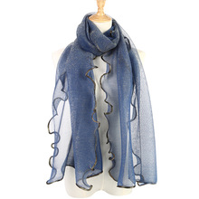 2019 summer muslim women agaric laces hijab scarf foulard femme musulman shawls islamic headscarf clothing hijabs 5pcs/pack