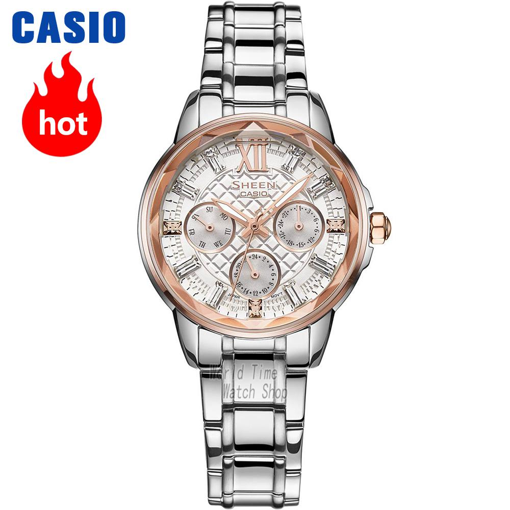 где купить  Casio watch Fashion business casual ladies watch SHE-3029SG-7A SHE-3029L-7A2 SHE-3029GL-5A SHE-3029PGL-7A  по лучшей цене