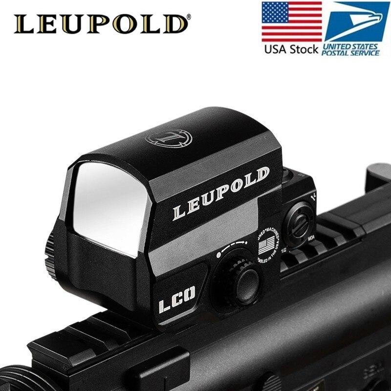 Livraison directe LCO Tactische viseur point rouge lunette de visé Jacht Étendues viseur réflexe Rencontré 20mm Rail Mount Holografische Zicht